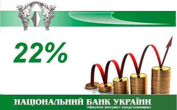 НБУ, 22 відсотки