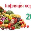 Інфляція в серпні 2015р.